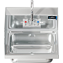 COMAL 14 x 10 x 5 HANDSINK WITH WALL FAUCET END SPLASH LEFT
