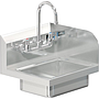 BRAZOS 14 x 10 x 5 HANDSINK WITH WALL FAUCET  END SPLASH RIGHT