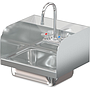 COMAL 14 X 10 X 5 HANDSINK WITH WALL FAUCET END SPLASH LEFT AND RIGHT