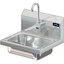 COMAL 14 X 10 X 5 HANDSINK WITH WALL MT ELECTRONIC FAUCET