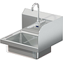 BRAZOS 16GA 14 X 10 X 5 HANDSINK W / WALL ELECTRONIC FAUCET END SPLASH RIGHT