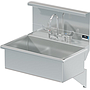 BLANCO 28 X 16 SCRUB UP SINK DECK W / WRIST BLADE HANDLES / SHELF